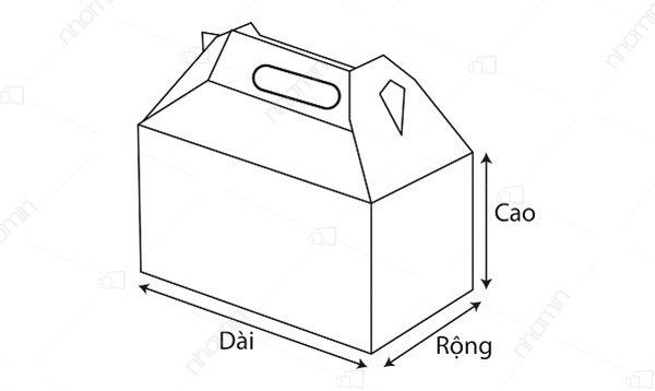 kích thước hộp quai xách