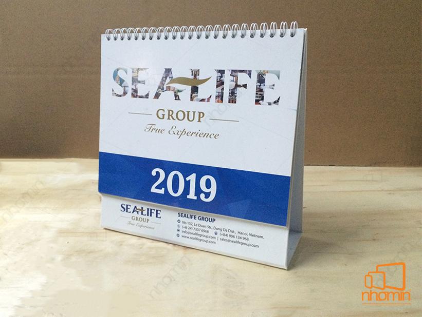 Lịch để bàn Sealife