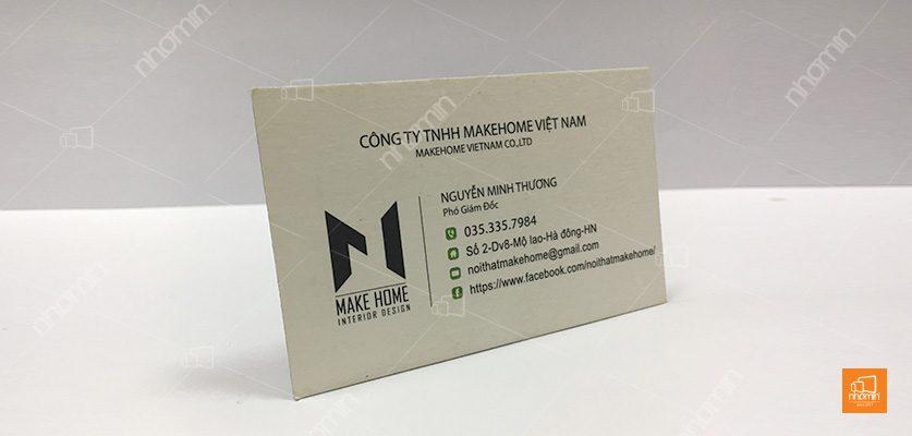 làm card visit giá rẻ công ty makehome