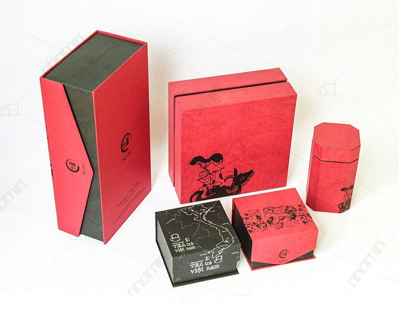 mẫu hộp trà việt do NHÓM IN sản xuất