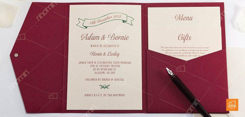 Mẫu thiệp mời cưới đẹp