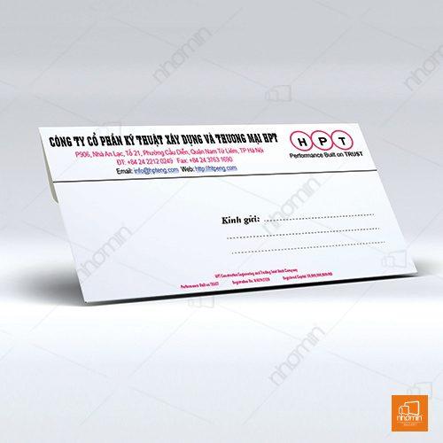 Mẫu thiết kế phong bì thư