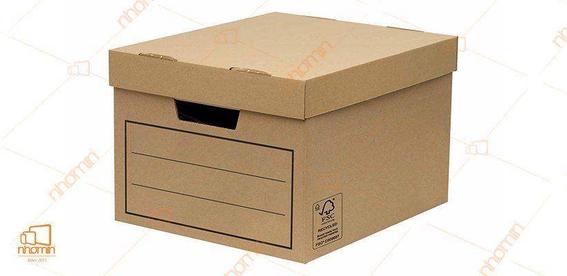 mẫu thùng carton nắp âm dương