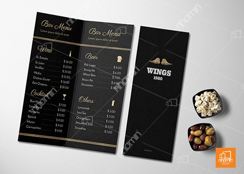 menu chất liệu giấy mỹ thuật
