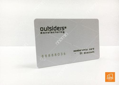 thẻ nhựa trắng