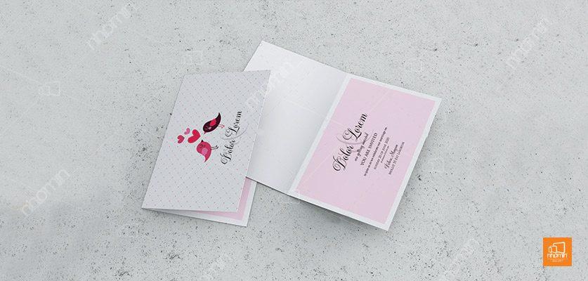 Thiết kế thiệp mời đám cưới đáng yêu