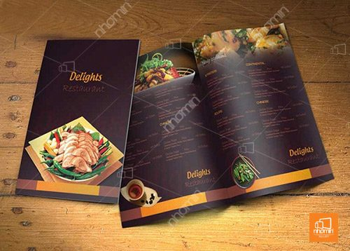 menu cán bóng